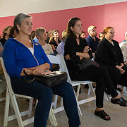 MAY 29, 2018--MIAMI, FLORIDA<br /> Attendees listening to Dr. Ann Markusen, from the University of Minnesota, during her talk as part of the By the People: Designing a Better America lectures at Miami Dade College's Freedom Tower .<br /> (PHOTO BY ANGELVALENTIN/FREELANCE)