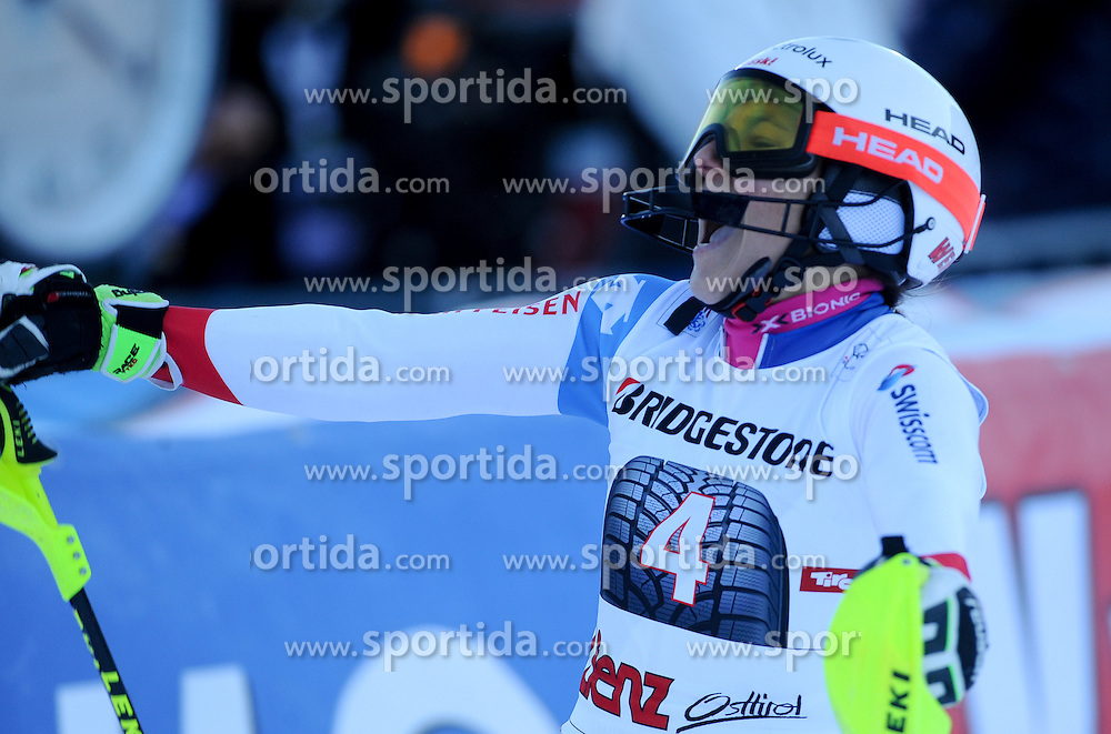 29.12.2015, Hochstein, Lienz, AUT, FIS Weltcup Ski Alpin, Lienz, Slalom, Damen, 2. Durchgang, im Bild Wendy Holdener (SUI) // Wendy Holdener of Switzerland reacts after 2nd run of ladies Slalom of the Lienz FIS Ski Alpine World Cup at the Hochstein in Lienz, Austria on 2015/12/29. EXPA Pictures © 2015, PhotoCredit: EXPA/ Erich Spiess