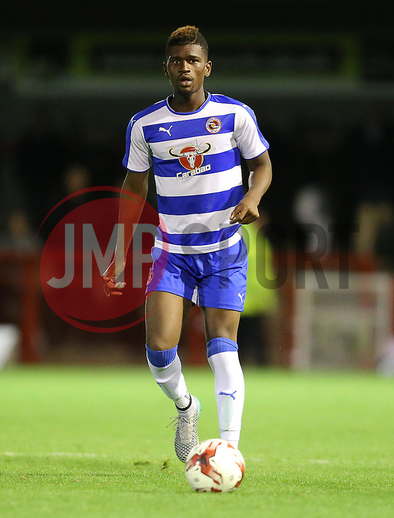 Aaron Tshibola of Reading of Reading - Mandatory by-line: Paul Terry/JMP - 07966386802 - 27/07/2015 - SPORT - FOOTBALL - Crawley,England - Broadfield Stadium - Crawley Town v Reading - Pre-Season Friendly