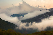 Mountain in clouds