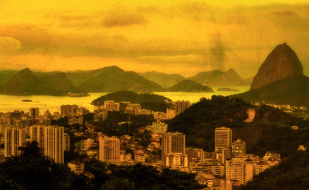 Fine art photography of Rio de Janeiro, Guanabara Bay and the Sugar Loaf.