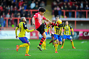 Exeter City's Troy Brown during the Sky Bet League 2 match between Exeter City and Dagenham and Redbridge at St James' Park, Exeter, England on 2 January 2016. Photo by Graham Hunt.