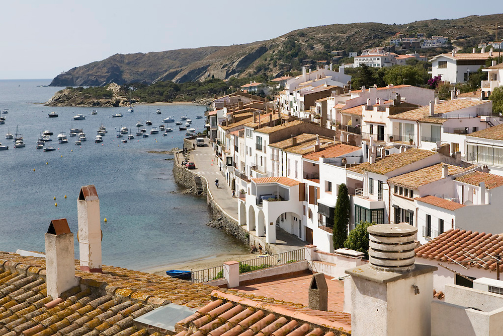 Cadaques, Spain, on the Costa Brava. Seen from the Cathedral.