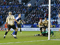 Photo: Steve Bond/Richard Lane Photography. Leicester City v Huddersfield Town. Coca Cola League One. 24/01/2009. Matty Fryatt (C part obscured) puts Leicester in front