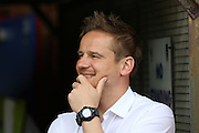 AFC Wimbledon Manager Neal Ardley in relaxed mood prior the Sky Bet League 2 match between AFC Wimbledon and Newport County at the Cherry Red Records Stadium, Kingston, England on 7 May 2016. Photo by Stuart Butcher.