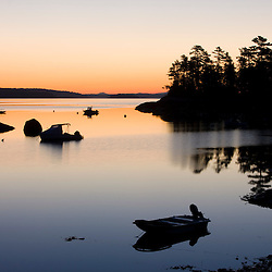 Dawn in Blue Hill Bay.  Blue Hill Falls, Maine.