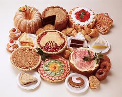 party holiday buffet pie cake pastry bakery donut kiwi strawberry torte apple lemon meringue chocolate croissant cherry