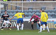 Michael Tidser scores Greenock Morton's equaliser - Dundee v Greenock Morton, William Hill Scottish Cup 5th Round at Dens Park .. - © David Young - www.davidyoungphoto.co.uk - email: davidyoungphoto@gmail.com