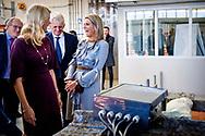 MOERKAPPELLE - Koningin Maxima tijdens de presentatie van het Jaarbericht Staat van het MKB 2018 van het Nederlands Comite voor Ondernemerschap aan staatssecretaris Mona Keijzer van Economische Zaken en Klimaat.