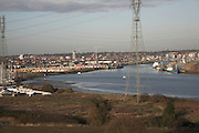 River Orwell, Ipswich docks, Suffolk, England