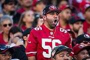 San Francisco 49ers fans celebrate a win over the New York Giants at Levi's Stadium in Santa Clara, Calif., on November 12, 2017. (Stan Olszewski/Special to S.F. Examiner)