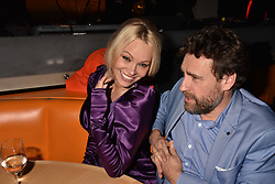 Pamela Anderson and Matthew Owen at Sambazonia presented by Sushisamba and Cool Earth at SushiSamba, 110 Bishopsgate, City of London England. 28 February 2017.
