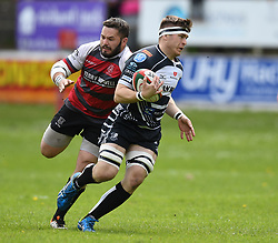 Pontypridd's Morgan Sieniawsk<br /> Cross Keys v Pontypridd RFC<br /> <br /> Photographer Mike Jones / Replay Images<br /> Pandy Park, Cross Keys.<br /> Wales - 12th May 2018.<br /> <br /> Cross Keys v Pontypridd RFC<br /> Principality Premiership<br /> <br /> World Copyright © Replay Images . All rights reserved. info@replayimages.co.uk - http://replayimages.co.uk