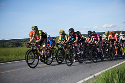 Lucy Kennedy (AUS) and Alena Amialiusik (BLR) on the front during Ladies Tour of Norway 2019 - Stage 2, a 131 km road race from Mysen to Askim, Norway on August 23, 2019. Photo by Sean Robinson/velofocus.com