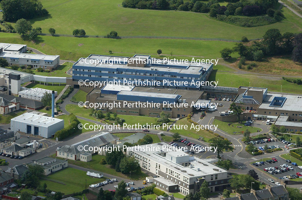 An aerial view of the Perth Royal Infirmary. PRI<br /><br />Picture by Graeme Hart.<br />Copyright Perthshire Picture Agency<br />Tel: 01738 623350  Mobile: 07990 594431
