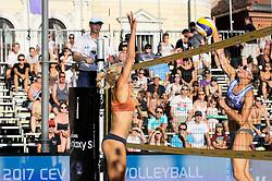 Inna Makhno of Ukraine vs Tjasa Kotnik of Slovenia at Ljubljana Beach Volley 2017, on July 22, 2017 in Ljubljana, Slovenia. Photo by Matic Klansek Velej / Sportida