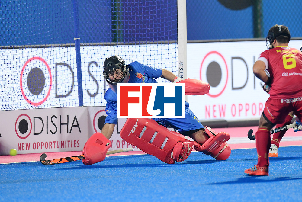 Odisha Men's Hockey World League Final Bhubaneswar 2017<br /> Match id:15<br /> Spain v Australia<br /> Foto: keeper Quico Cortes (Esp) <br /> COPYRIGHT WORLDSPORTPICS FRANK UIJLENBROEK