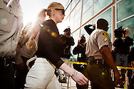 Lindsay Lohan arrives to the L.A. Airport Branch Courthouse for a hearing on a felony charge against her. Lohan is accused is stealing a $2500 necklace from a Venice jewelry store, Kamofie.& Co. on Jan. 22. .Lohan, who is free on $40,000 bail, claims it was on loan and a big misunderstanding.