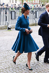 The Duchess of Cambridge and The Duke of Sussex attend the Anzac Day Service of Commemoration and Thanksgiving at Westminster Abbey, London. Photo credit should read: Doug Peters/EMPICS