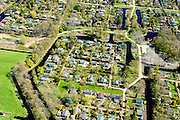 Nederland, Noord-Holland, Gemeente Amsterdam, 20-04-2015; Driemond, volkstuinen van Tuinpark Linnaeus. <br /> Allotments of Linnaeus Garden Park.<br /> <br /> luchtfoto (toeslag op standard tarieven);<br /> aerial photo (additional fee required);<br /> copyright foto/photo Siebe Swart
