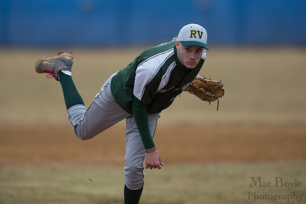 Raritan Valley Community College Baseball Sophomore Pitcher Clayton Shaw (4); Raritan Valley Baseball hosted by Gloucester County College at Gloucester County College in Sewell, NJ on Friday March 1, 2013. (photo / Mat Boyle)