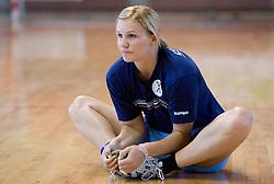 Neli Irman at practice of Slovenian Handball Women National Team, on June 3, 2009, in Arena Kodeljevo, Ljubljana, Slovenia. (Photo by Vid Ponikvar / Sportida)