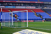 A wet Macron Stadium awaits the during the EFL Sky Bet Championship match between Bolton Wanderers and Fulham at the Macron Stadium, Bolton, England on 10 February 2018. Picture by Craig Galloway.
