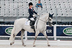 Natasha TSE riding The Silver Surfer in the Grade 1a Para-Dressage at the 2014 World Equestrian Games, Caen, Normandy, France..