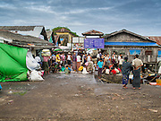 08 NOVEMBER 2014 - SITTWE, RAKHINE, MYANMAR:  The fish pier in Sittwe. Sittwe is a small town in the Myanmar state of Rakhine, on the Bay of Bengal.  PHOTO BY JACK KURTZ