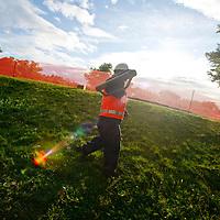 Clean up worker, Liberty Park, Salt Lake City