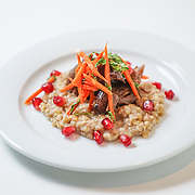 Lamb Jam Seattle, Middle Eastern contestant: The Hunt Club, Chef Dan Gilmore (za'atar spiced lamb confit, freekeh & date pilaf, pickled carrot, sorrel, pomegranate).