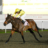 Khatiba and Andrea Atzeni winning the 6.30 race