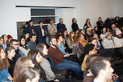 New York, NY - February 19, 2019: The annual Farmers' Almanac panel, hosted by Slow Food NYC at Project Farmhouse near Union Square.<br /> <br /> Photos by Clay Williams for Slow Food NYC.<br /> <br /> © Clay Williams / http://claywilliamsphoto.com