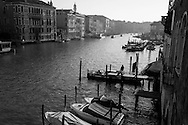 Italy. Venice elevated view. the Grand Canal   Venice - Italy  view from the palace CA PESARO  on the Grand Canal. / le grand canal   Venise - Italie vue depuis le palaismusee CA PESARO, le long du grand canal