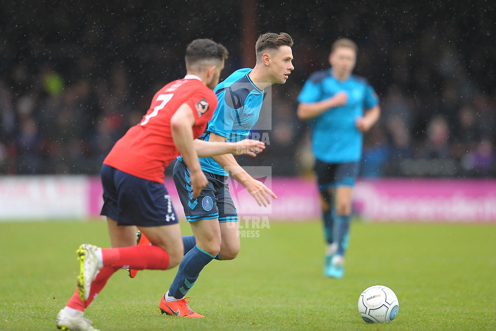 TELFORD COPYRIGHT MIKE SHERIDAN 27/4/2019 - Ryan Barnett during the Vanarama Conference North fixture between AFC Telford United and York City at Bootham Crescent