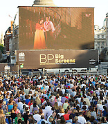 BP Big Screen<br /> TOSCA live from the <br /> Royal Opera House <br /> Trafalgar Square, London, Great Britain <br /> <br /> living streaming of Tosca <br /> with additional live interviews both in Trafalgar Sq and at the Royal Opera House<br /> <br /> 18th July 2013<br /> <br /> <br /> <br /> Photograph by Elliott Franks<br /> <br /> <br /> Tel 07802 537 220 <br /> elliott@elliottfranks.com<br /> <br /> 2013&copy;Elliott Franks