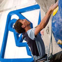 Klemen Becan of Slovenia during Final IFSC World Cup Competition in sport climbing Kranj 2010, on November 14, 2010 in Arena Zlato polje, Kranj, Slovenia. (Photo By Vid Ponikvar / Sportida.com)