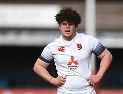England U18s v France U18s<br /> Photographer Mike Jones/Replay Images<br /> <br /> England U18s v France U18s<br /> Six Nations, Sunday 8th April 2018, <br /> Cardiff Arms Park, Cardiff, <br /> <br /> World Copyright © Replay Images . All rights reserved. info@replayimages.co.uk - http://replayimages.co.uk