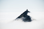 Mount Stapafell, temperature inversion, Iceland.