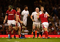 Rugby Union - 2019 pre-Rugby World Cup warm-up (Under Armour Summer Series) - Wales vs. England<br /> <br /> Wales' Wyn Jones gets to grips with England's Dan Cole, at Principality (Millennium) Stadium.<br /> <br /> COLORSPORT/ASHLEY WESTERN
