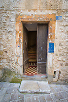 Doorway of a stone house in Vence, France