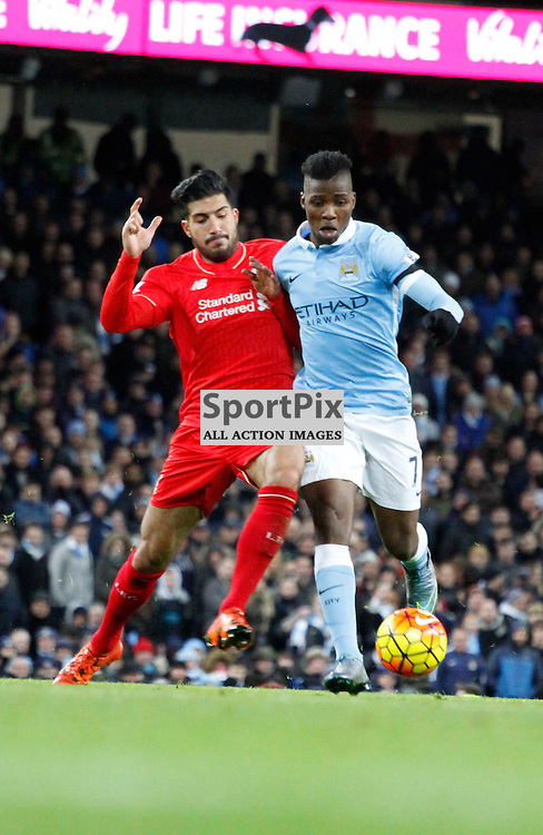 Emre Can tackles Kelechi Ilheanacho during Manchester City vs Liverpool, Barclays Premier League, Saturday 21st November 2015, Etihad Stadium, Manchester