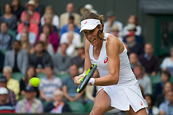 LONDON, ENGLAND - Thursday, June 30, 2016: Johanna Konta (GBR) during the Ladies' Single 2nd Round match on day four of the Wimbledon Lawn Tennis Championships at the All England Lawn Tennis and Croquet Club. (Pic by Kirsten Holst/Propaganda)
