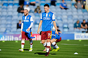 Tom Field (15) of Bradford City warming up before the EFL Sky Bet League 1 match between Portsmouth and Bradford City at Fratton Park, Portsmouth, England on 28 October 2017. Photo by Graham Hunt.