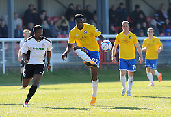 Bristol Rovers' Lee Brown - Photo mandatory by-line: Neil Brookman/JMP - Mobile: 07966 386802 - 18/04/2015 - SPORT - Football - Dover - Crabble Athletic Ground - Dover Athletic v Bristol Rovers - Vanarama Football Conference