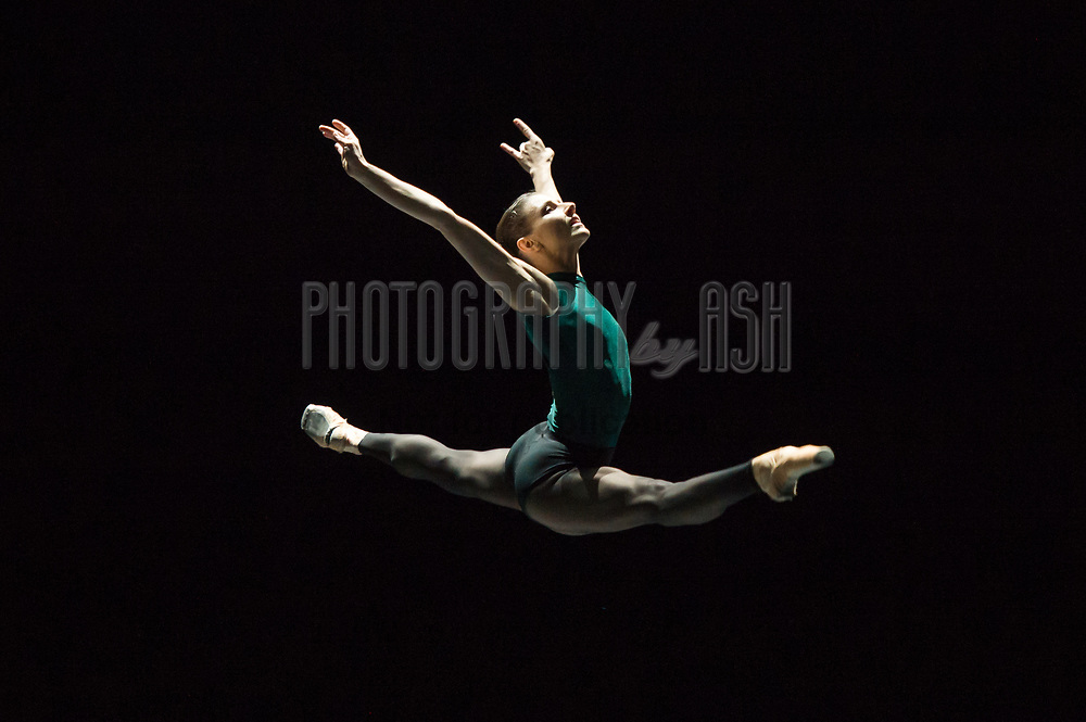 Alina Cojocaru performs in William Forsythe's In the Middle, Somewhat Elevated during English National Ballet's dress rehearsal for their Modern Masters triple bill at Sadler's Wells Theatre, London on March 09, 2015. Photo: Arnaud Stephenson