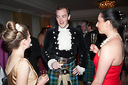CLEMENTINE TRAVIS; VICTOR LAMARQUE; MARIA NATALI, The Royal Caledonian Ball 2013. The Great Room, Grosvenor House. Park lane. London. 3 May 2013.