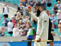 Cricket - 2017 South Africa Tour of England - Third Test, Day Five<br /> <br /> Moeen Ali takes the applause of the crowd as he walks off with The Cricket ball and one of the stumps after getting a hat trick of wickets (the first since 1938 for a spin bowler) during the afternoon session, <br /> The third wicket was of Morne Morkel which won the 100th test match at The Oval.<br /> <br /> COLORSPORT/ANDREW COWIE