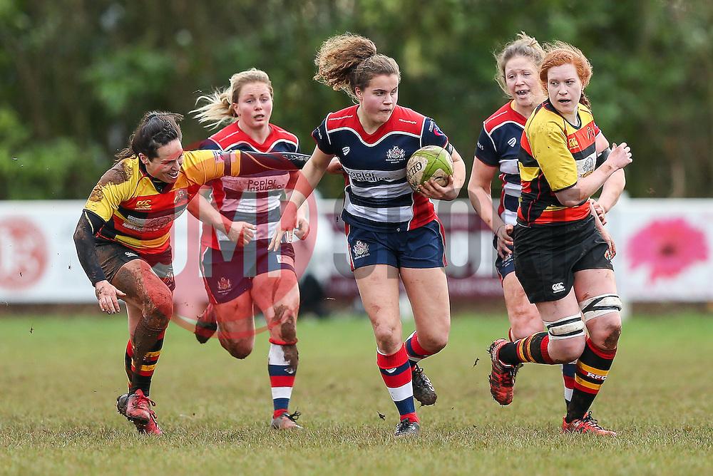 Lucy Attwood of Bristol Ladies in action - Rogan Thomson/JMP - 15/01/2017 - RUGBY UNION - Cleve RFC - Bristol, England - Bristol Ladies Rugby v Richmond WRFC - RFU Women's Premiership.