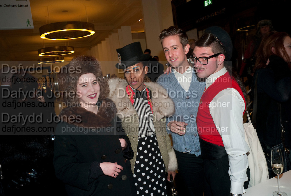 FRANCESCA BLOMFIELD; PINKY TESFAY; JAMES DYER; KRISTOFJ VON STRASS, The Nineties are Vintage. Concept Store, Rellik and Workit. The Wonder Room. Selfridges. Oxford St. London. 7 January 2010.